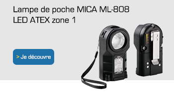 LAMPE DE POCHE LED ATEX MICA ML-808 ZONE 1